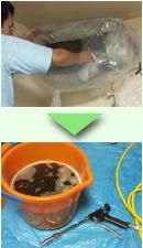 エアコン洗浄 汚水